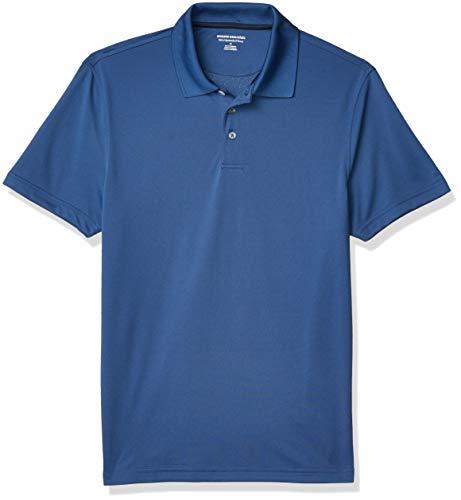Amazon Essentials Slim-Fit Polo Golf-Shirts, Blau, XS