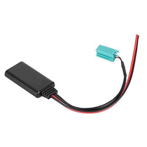 NCONCO Cable de audio Bluetooth para radio de coche, conector Bluetooth estéreo, adaptador de entrada auxiliar para Renault Modus modelos 2005 a 2011