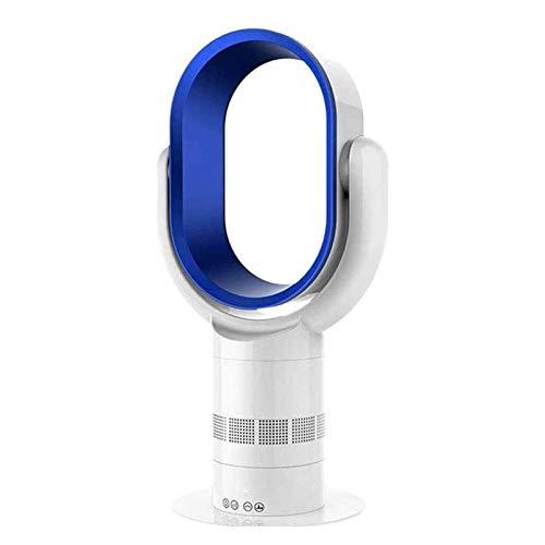 Adesign Ventilador de escritorio sin tapas, ventilador de torre oscilante, control remoto, temporizador de 8 h, 10 velocidades, refrigerador de aire de ventilador sin incapacidad para el estudio de la