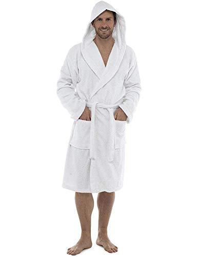 CityComfort Bata De Baño para Hombres | Albornoz De Toalla Al 100% De Algodón Gimnasio, La Ducha, El Hotel, El SPA O para IR De Vacaciones