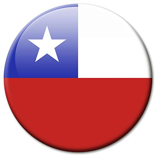 Kühlschrankmagnet Flagge Chile Magnet Länder Flaggen Reise Souvenir für Kühlschrank stark groß 50 mm