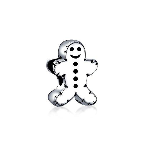 Vacaciones De Navidad Cookie Gingerbread Man Forma Albalorio Para Mujer Para Adolescente 925 Para Pulsera Europea