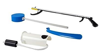"FabLife - 86-0070 Multiple Tool Hip Kit, 26"" Reacher Contoured Sponge, Formed Sock Aid and 18"" Plastic Shoehorn"