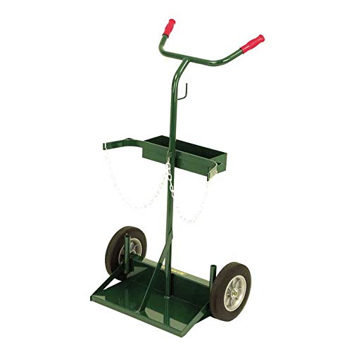 Harper Trucks 142-86 46-Inch High by 28-Inch Wide Deluxe Welding Cylinder Hand Truck with 10-Inch Solid Rubber Wheels