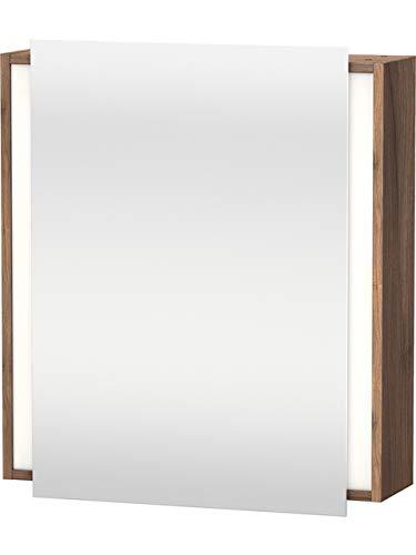 Duravit Ketho spiegelkast 7530, 1 spiegeldeur, rechts scharnierend, 650mm, Kleur (voorzijde/karkas): Walnoot Natuur Décor - KT7530R7979