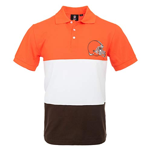 FOCO NFL Cleveland Browns Mens Polo Short Sleeve ShirtPolo Short Sleeve Shirt, Rugby Scrum, L