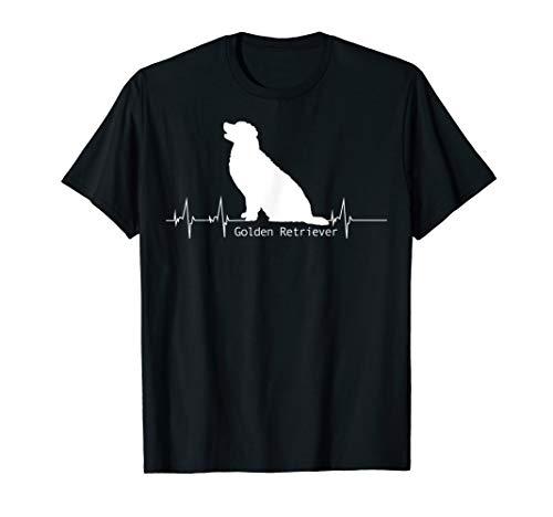 Herzschlag Design - Golden Retriever Geschenk T-Shirt