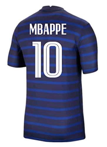 LISIMKEM 2020-2021 Men's Home Soccer Jersey/Short Colour Blue (France Mbappé #10 (XL))