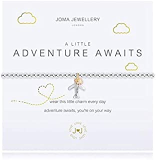 Joma Jewellery A Little Adventure Awaits Silver Plated Bracelet Airplane Travel Gift