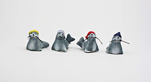 Buddel-Bini Versand 4 Robben klein Deko Robbe Verschiedene Ausführungen
