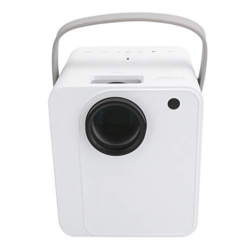 Proiettore portatile, videoproiettore home theater portatile 1080P, proiettore intelligente wireless, qualità dell'immagine 4K ad alta definizione, per Android, supporto 4: 3 e 16: 9(EU)