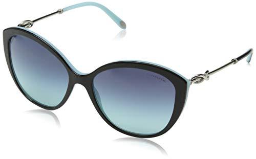Tiffany & Co. 0TY4144B 80559S 57 Occhiali da Sole, Nero (Black/Blue/Azuregradientbluee), Donna