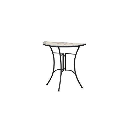 Siena Garden Tisch Stella, 35,5x70x71,5cm, Gestell: Stahl, pulverbeschichtet in schwarz matt, Fläche: Mosaik,Tischplatte: Keramik