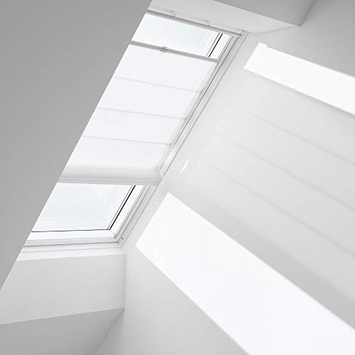 Orignal VELUX Raffrollo FHB MK08 6501 / Bedienart : Manuell / Farbe : Dekor Weiß / Fenstergröße : MK08 / Fenstertypen : GGU, GGL, GPU, GPL, GTU, GTL, GXU, GXL _12221