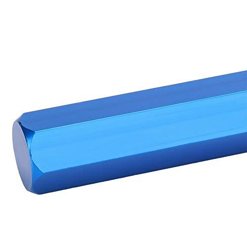 Nivelador de electrodos de plástico, nivelador de electrodo de PVC de 130 mm de bandas de mini estiramiento de aleación de aluminio y acero de alta velocidad hecho (azul)