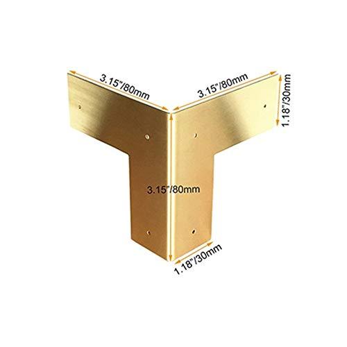 Angle Bracket Pure Brass Piedly Rinconera Esquina Protectores Peticiones Muebles Clásicos Mesas y Sillas Gabinete Gabinete Guardia...