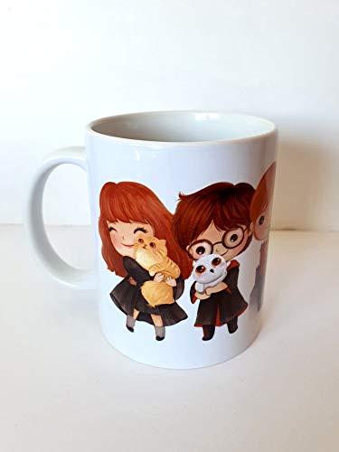 Taza de Harry Potter, Ron Weasley y Hermione Granger