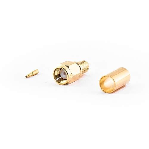 VARIA Group RP-SMA-Stecker für H155 Kabel, Crimp Version