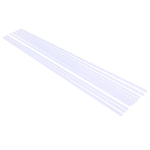 F Fityle 10x ABS Plastic 500x4mm Square Tube Hollow Bar Rods for Sand Table Building