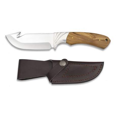 Cuchillo Caza Mango olivo Hoja: 10.30cm Cuchillo para para caza, pesca, camping, outdoor, Supervivencia y bushcarft