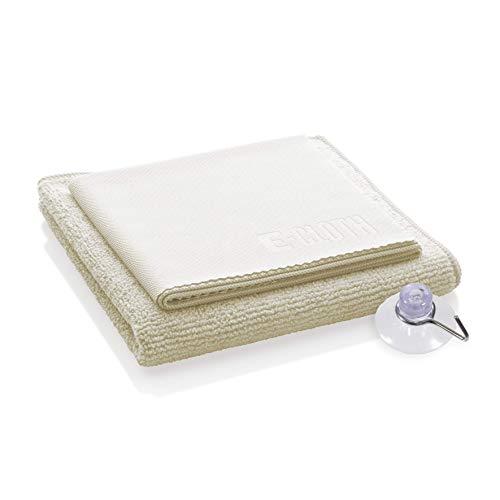 E-Cloth 8930110 Chiffon Spécial Douche et Lavette Vitre + Crochet Polyamide Aléatoire 32 x 32 x 0,2 cm