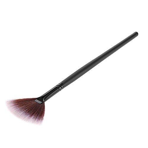 Anself Kosmetikpinsel Fächerpinsel Fan Pinsel 1PCS Schwarz
