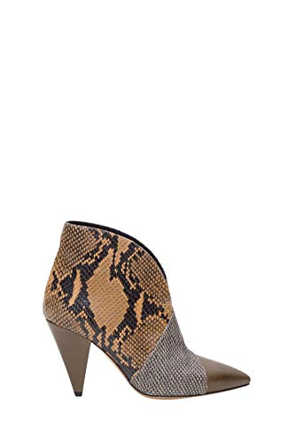 Luxury Fashion | Isabel Marant Dames BO036619A063STACA Bruin Leer Enkellaarzen | Herfst-winter 19