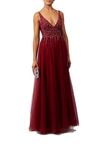 Mascara Vino Mc186017 Perline di Raggio Net Dress 36