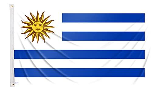 Bandera uruguaya grande 150x90 cm bandera Uruguay de balcón