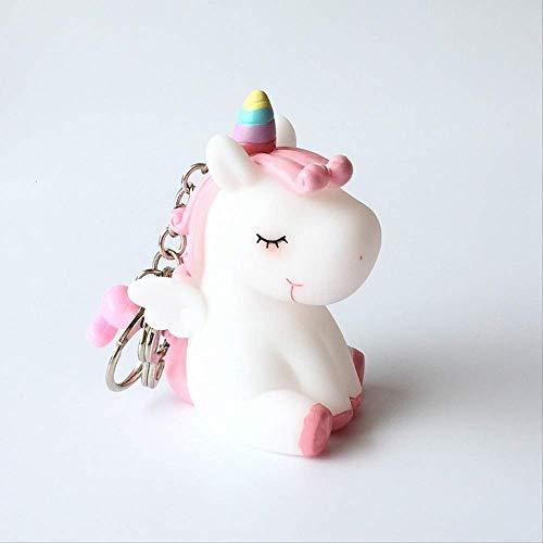 Unicorn sleutelhanger schattige creatieve sleutelhanger meisjes hart auto sleutelhanger schooltas charm prul
