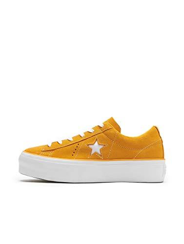 CONVERSE ONE STAR PLATFORM SUEDE OX Sneakers femmes Oranje/Wit Lage sneakers