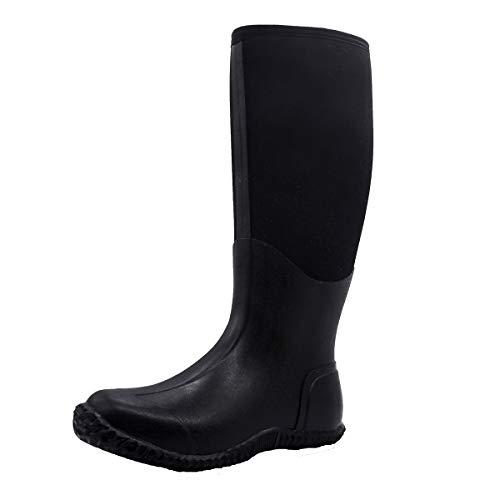 Men's Waterproof Rain Boot Durable Insulated Rubber