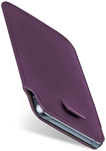 moex Slide Hülle für Emporia Flip Basic Hülle zum Reinstecken Ultra Dünn, Holster Handytasche aus Vegan Leder, Premium Handyhülle 360 Grad Komplett-Schutz mit Auszug - Lila