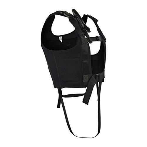 Toygogo Bleiweste Gewichtsweste zum Tauchen, Schnorcheln, Laufen, Training, Wandern, Fitness - Schwarz, 2XL