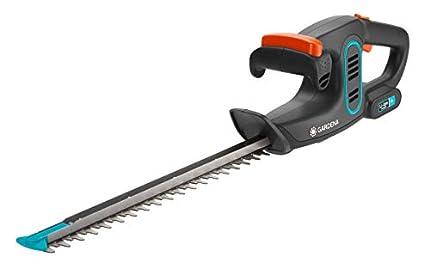 GARDENA EasyCut Li 9836-20 Tijeras cortasetos tijeras para arbustos con potente batería de 14,4V, con mango ErgoTec y protector contra impactos