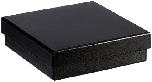 MTS Universal/Armreif Schachtel Etui schwarz Geschenk - Verpackung Green Pack aus Biokunststoff ( Umweltfreudlich ) 8 x 8 cm 156021