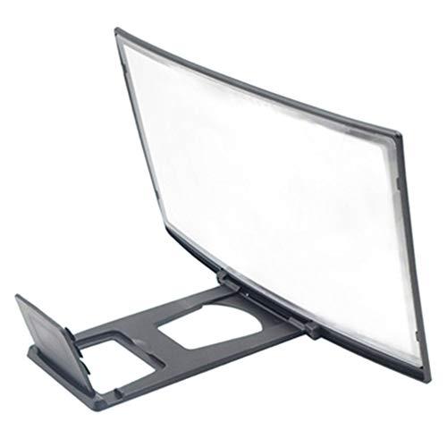 bansd 12 Pulgadas 3D HD Pantalla de teléfono Lupa Película Video Amplificador Soporte Lupa Pantalla Negro