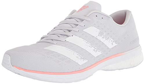 adidas Women's Adizero Adios 5 w Sneaker, d Grey/White/Glory Pink, 6.5 M US
