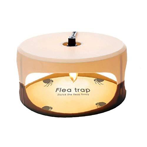 shentaotao Trampa de pulgas Asesino de la Mosca de la lámpara Redonda Simple instalación Pegamento Discos Mejor Control de plagas para el hogar