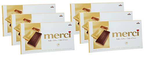 merci Tafel Kaffee-Sahne, 6er Set (6 x 100g Tafeln)