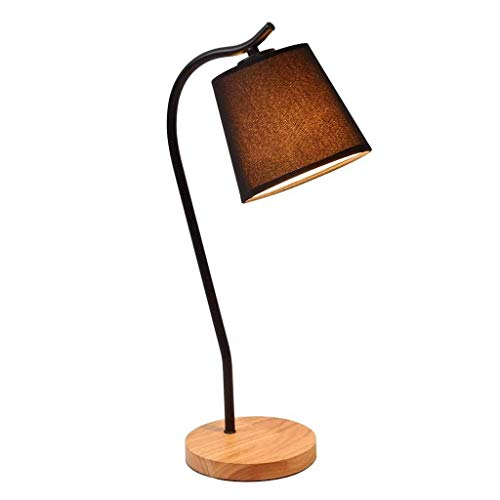 CHENJIA Lámpara de mesa de escritorio LED portátil Lámpara de mesa regulable for el cuidado de los ojos Luz de estudio de ahorro de energía, interruptor de botón, ideal for dormitorio Oficina negro 51