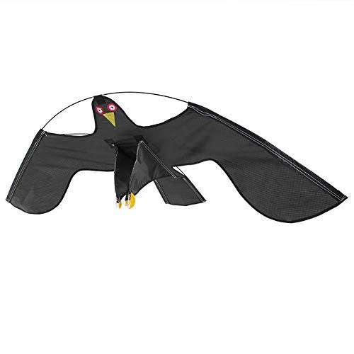 Ausziehbarer Vogelschreck, Vogelscheuche, Fliegender Falkdrachen mit 4m Teleskopstange, Flash Reflective Scare Vogel-Scarer-Gerät für Garden Farm