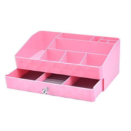 PPING Organizador Escritorio organizadores de Maquillaje Makeup Brush Holder Rose Gold Beauty Organiser Makeup Storage Organiser Bathroom Organiser Pink