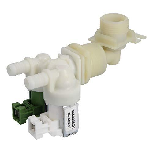 AEG Electrolux 146876639 1468766397 ORIGINAL Magnetventil Wassereinlaufventil Wasserüberlaufschutz Wasserelektroventil Ventil zweifach Waschmaschine Waschautomat auch Juno Zanker Zanussi