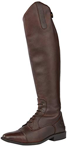 Rhinegold Elite Luxus Brown Laced Cuero Botas de Montar - 6.