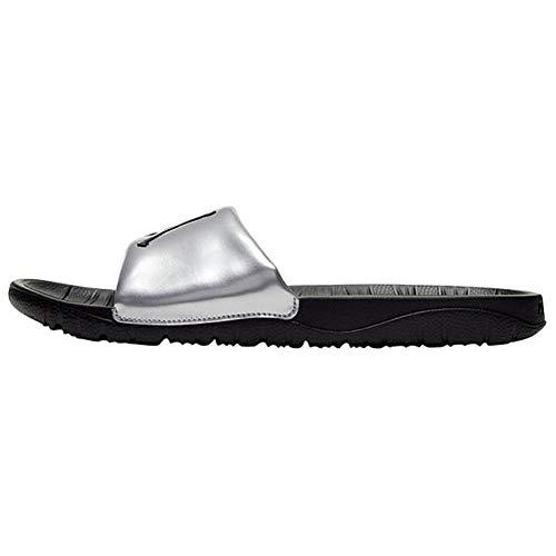 Jordan Break Slide (GS), Chanclas Unisex Adulto, Metallic Silver/Black/Black