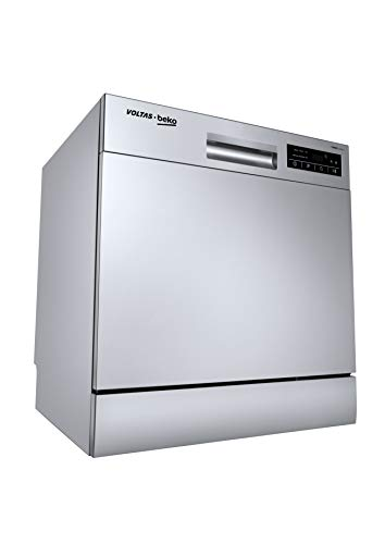 Voltas Beko 8 Place Table Top Dishwasher (DT8S, Silver)