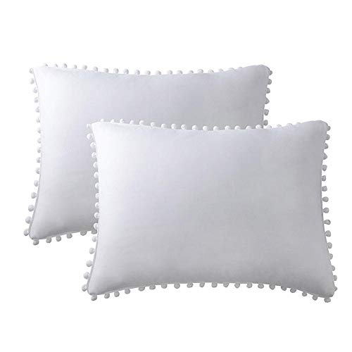 cypressen 100 Microfiber Cushion Covers Set of 2 Soft and Cuddly 20'x36' Plain White Super Soft Hotel Quality Pillow Case