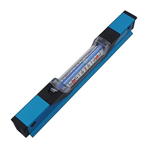 ASDMRQ Nivel de alcohol, nivel de burbuja, azul con escala, herramienta de medición horizontal, herramienta de medición de ángulo, herramienta de medición de ángulo decorativo