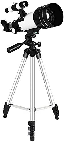 MWKL Telescopio astronomico Professionale Entry-Level per Bambini, telescopio riflettore per Principianti, Obiettivo Ottico, telescopio da Viaggio Portatile con Retro